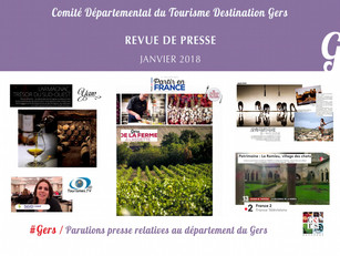 Le Gers dans les médias :  Plus de 35 articles ont vanté la Destination au mois de janvier !