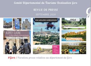 Le Gers dans les médias :  plus de 110 articles ont vanté la Destination en septembre !