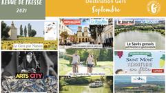 Le Gers dans les médias : près de 100 articles ont vanté la Destination en septembre