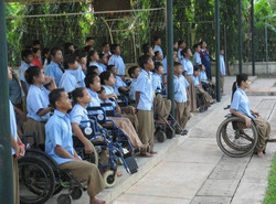The children during morning assembly
