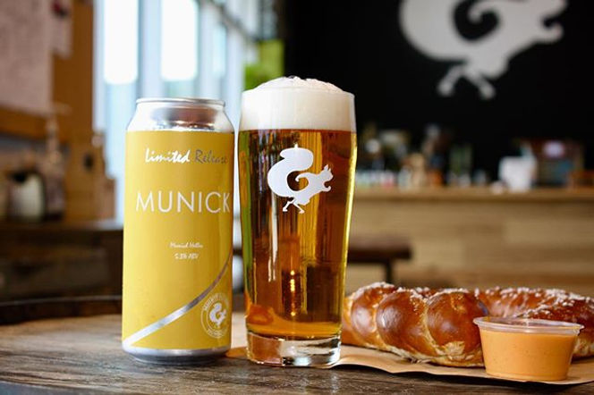 Cold Lager, Hot Pretzel. A match made in