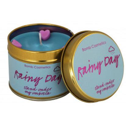 RAINY DAY Tin Candle BOMB COSMETICS
