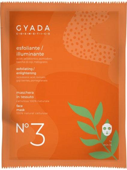 MASCHERA VISO n° 3 in tessuto ESFOLIANTE – Gyada Cosmetics