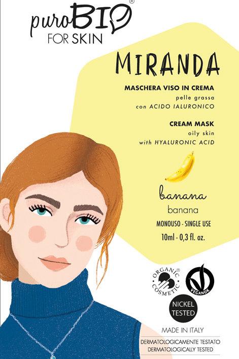 MIRANDA Maschera viso BANANA - puroBio