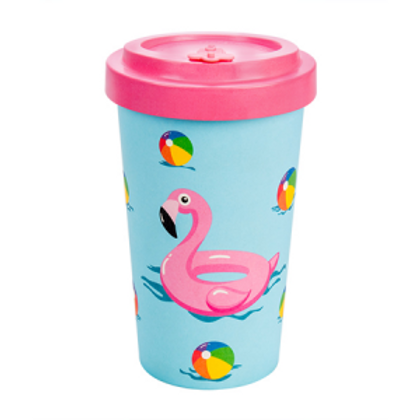 SEA FUN PINK Tazza to go bamboo Woodway