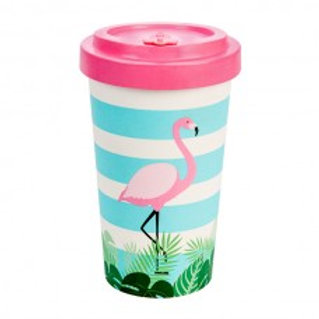 FLAMINGO PINK Tazza to go bamboo Woodway
