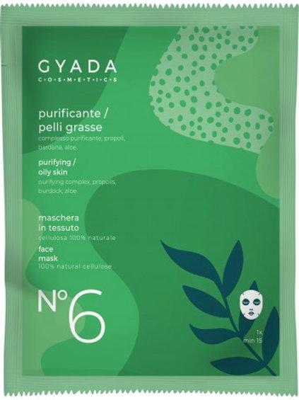 MASCHERA VISO n° 6 in tessuto PURIFICANTE  – Gyada Cosmetics