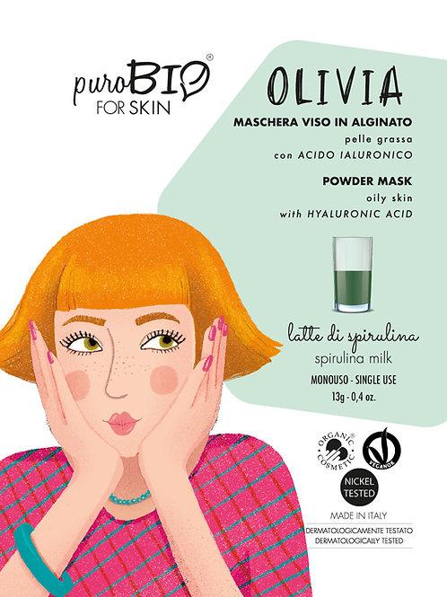 OLIVIA Maschera viso LATTE DI SPIRULINA - puroBio