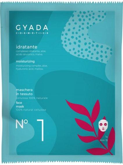 MASCHERA VISO n°1 in tessuto IDRATANTE – Gyada Cosmetics