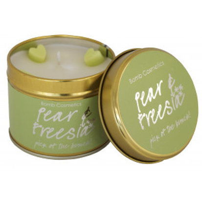PEAR & FREESIA Tin Candle BOMB COSMETICS