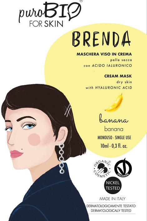 BRENDA Maschera viso BANANA - puroBio