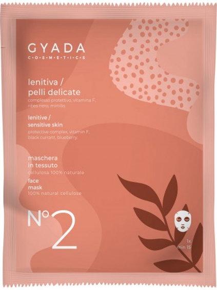 MASCHERA VISO n° 2 in tessuto LENITIVA – Gyada Cosmetics
