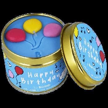 HAPPY BIRTHDAY Tin Candle BOMB COSMETICS