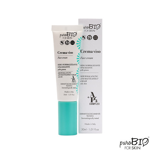 Crema viso sebo-normalizzante - puroBio