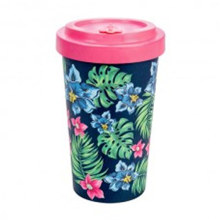 TROPICAL PINK Tazza to go bamboo Woodway