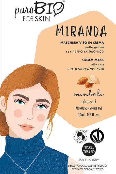 MIRANDA Maschera viso MANDORLA - puroBio