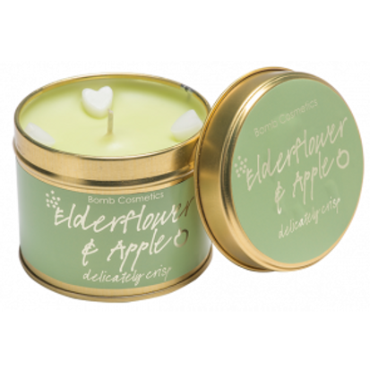 ELDERFLOWER & APPLE Tin Candle BOMB COSMETICS