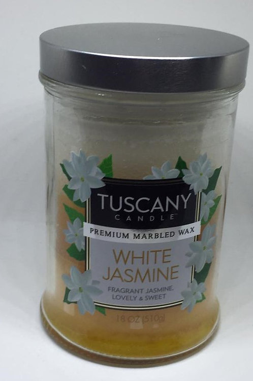 WHITE JASMINE TUSCANY CANDLE