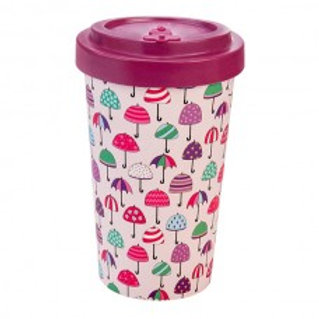 UMBRELLAS PURPLE Tazza to go bamboo Woodway