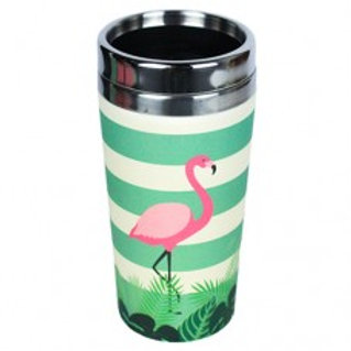 FLAMINGO Thermos bamboo Woodway
