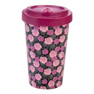 ROSES PURPLE Tazza to go bamboo Woodway
