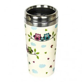 OWLS Thermos bamboo Woodway