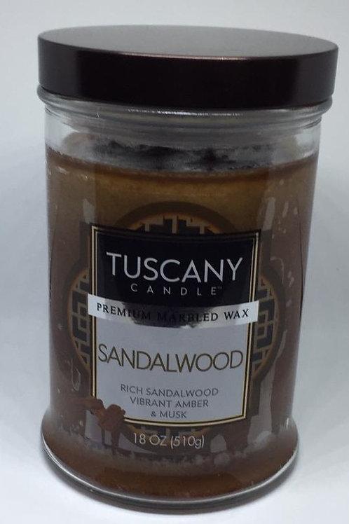 SANDALWOOD TUSCANY CANDLE