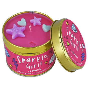SPARKLE GIRL Tin Candle BOMB COSMETICS