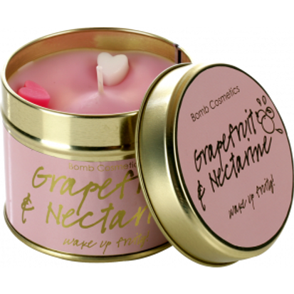 GRAPEFRUIT & NECTARINE Tin Candle BOMB COSMETICS