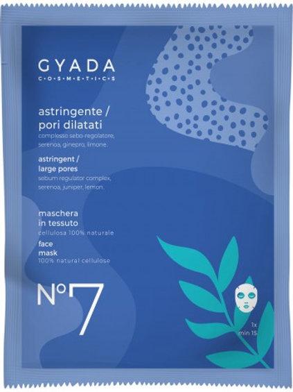 MASCHERA VISO n° 7 in tessuto ASTRINGENTE  – Gyada Cosmetics