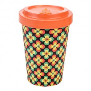 RETRO FLOWERS Tazza to go bamboo Woodway