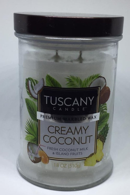 CREAMY COCONUT TUSCANY CANDLE