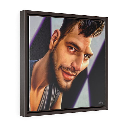 Ricky martin Square Framed Premium Gallery Wrap Canvas