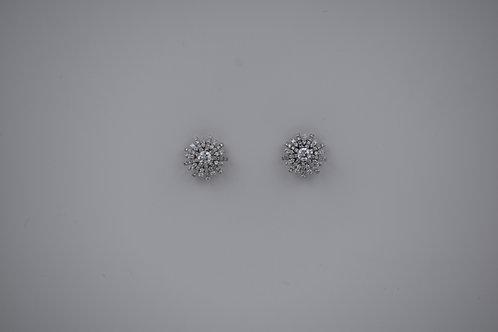 Diamond Snowflake Earrings Diam 1.18ctw