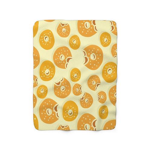 """Bagel Pattern 50"""" x 60"""" Sherpa Fleece Blanket"""