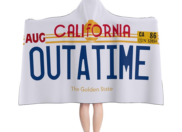 Outatime License plate Hooded Blanket