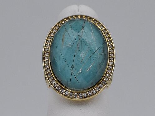 Diamond Turqouise Ring