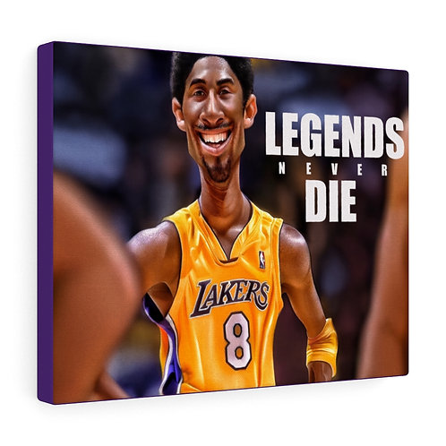 Legends never die Canvas Gallery Wraps