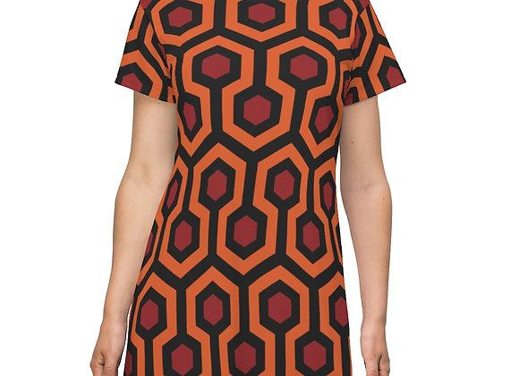 Overlook Hotel Carpet Pattern: The Shining AOP T-shirt Dress
