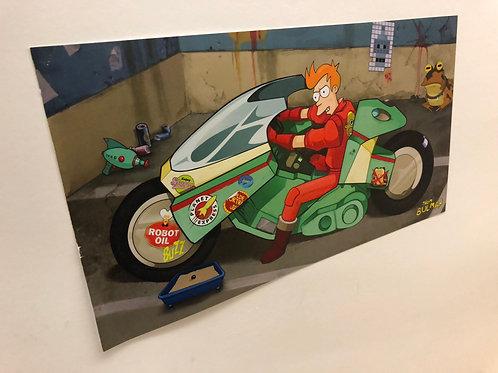 """Large Futurama 21"""" x 11.5"""" print"""