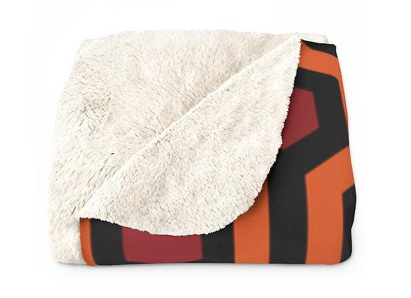Overlook Hotel Carpet Pattern Sherpa Fleece Blanket- The Shining