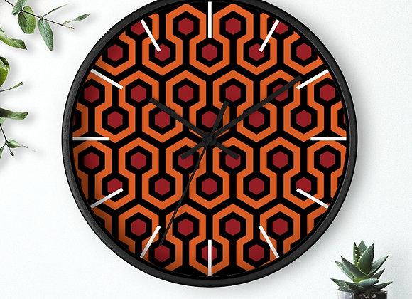Overlook Hotel Carpet Pattern Wall clock