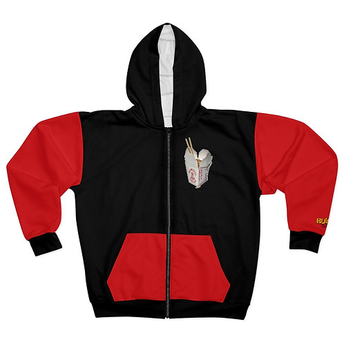 They're only noodles michael AOP Unisex Zip Hoodie
