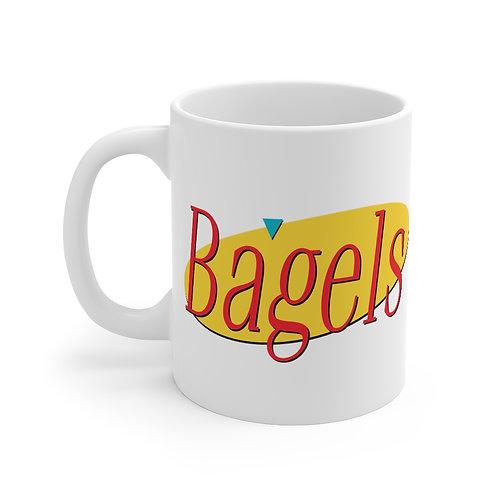 Seinfeld Logo Bagel Mug