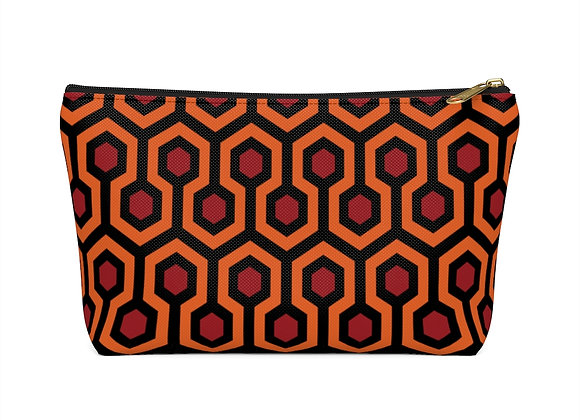 The Shining Overlook Hotel Carpet Zippered Accessory Pouch w T-bottom