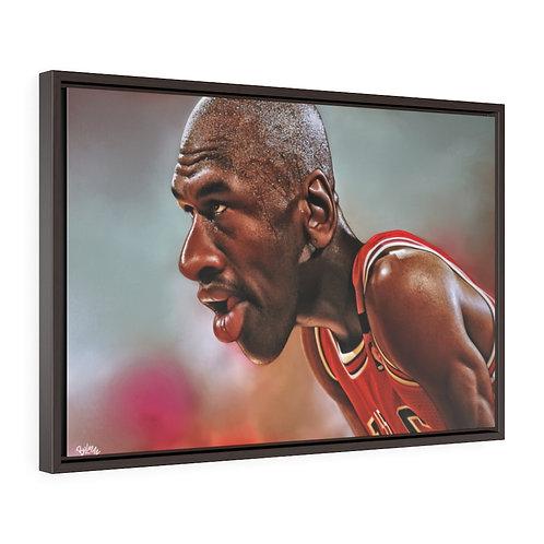 Jumpman Horizontal Framed Premium Gallery Wrap Canvas
