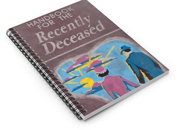 Handbook For The Recently Deceased Spiral Notebook Beetlejuice homage