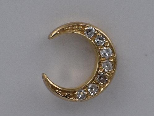 Diamond Crescent Moon Earrings