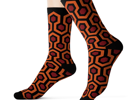 Overlook Hotel Carpet Pattern Sublimation Socks- The Shining