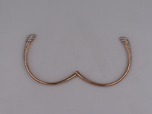 Open-Ended Hinged Diamond Bangle Bracelet